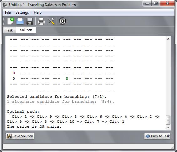 Main Window (Solution Tab), v0.1 alpha 2